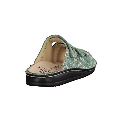 Finn Comfort Korfu- Scarpe Da Donna Pantolette / Perizoma, Verde, Pelle (zamo)