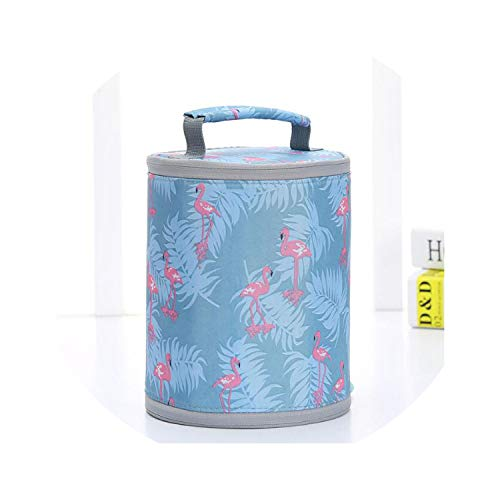 (Functional Pattern Cooler Lunch Box Portable Insulated Canvas Lunch Bag Thermal Food Picnic Lunch Bags For Women Kids,Blue 03)