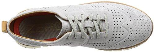 Cole Haan Mens Zerogrand Sneakers Perforate Argento Applique Pelle Scamosciata-avorio