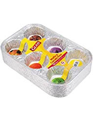 Glad Food Prep & Storage BB11991 | Disposable Muffin and Cupcake Tins for, 12 Count, Baking