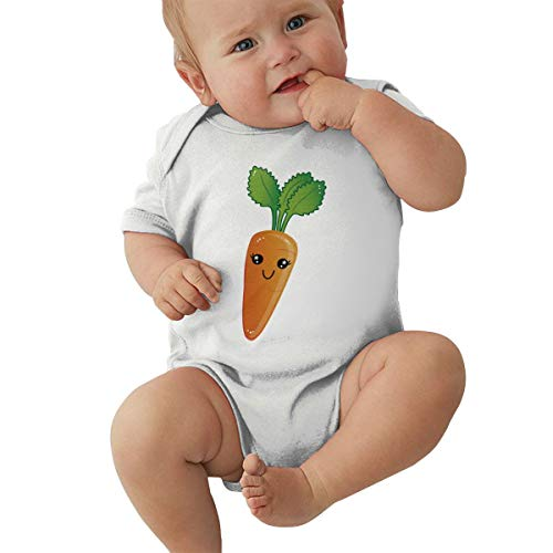 Barbara J Griffin Body de manga corta para bebé de zanahoria