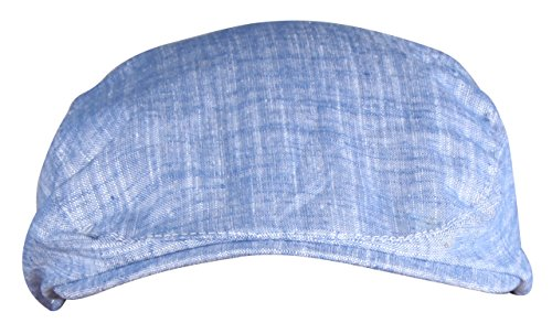 Adult Newsboy Hat (ORSKY Adult Cotton Newsboy Cap Classic Blue Flat Hat Ivy Driving Cap Blue)