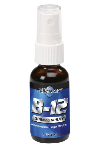 Pure Advantage Vitamin B-12 Methylcobalamin Spray, 1 Ounce