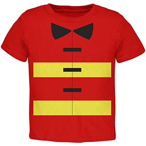 Halloween Fireman Costume Red Toddler T-Shirt
