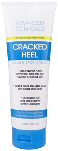 Advanced Clinicals Cracked Heel Cream for dry feet, rough spots, and calluses. -
