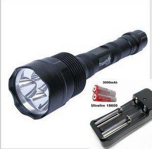 (CREE XML XM-L 3x T6 LED 3800 Lumens TR-3t6 Flashlight Torch Set )
