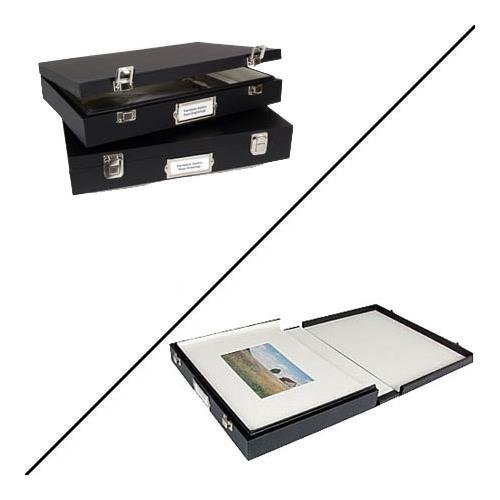 Archival Methods Museum Case 17.5x22.5x2.5'' Deep, Black Buckram with White Lining by Archival Methods