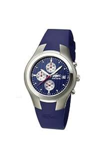Lacoste 3510C 28 - Reloj analógico de caballero de cuarzo con correa de silicona azul