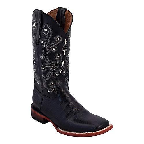 Ferrini Ladies Chocolate Gator Belly Print Leather S-Toe Cowboy Boots 11B