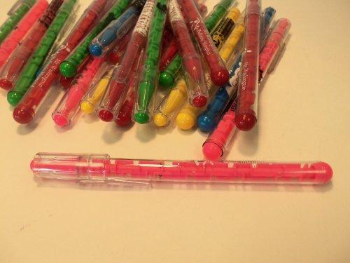 24 Lot Misprint Maze Puzzle Pens, Assorted Colors, Medium Point Photo #2