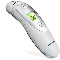 Morpilot Forehead and Ear Thermometer Dual Mode Digital Infrared Thermometer for Adult and Baby - One Second Accurate Measurement Fever Detection 20 Memory Recall Safe and Hygienic