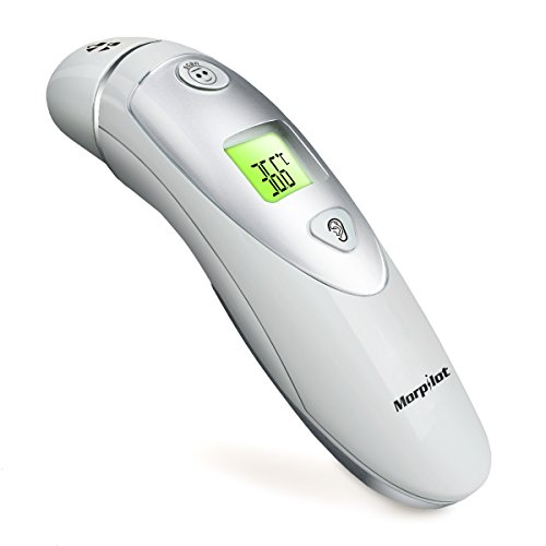 Morpilot Forehead and Ear Thermometer Dual Mode Professional Digital Medical Infrared Thermometer for Adult and...