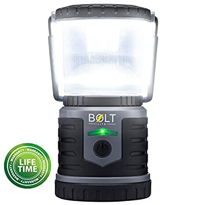 Rechargeable LED Lantern Bright Light for Camping, Emergency Use, Outdoors, and Home- Lasts for 250 Hours on a Single Charge- Includes USB Cord and Wall Plug- Built In Phone Charger