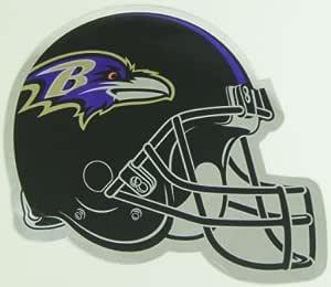 Baltimore Ravens Helmet Large Chrome NFL Car Magnet