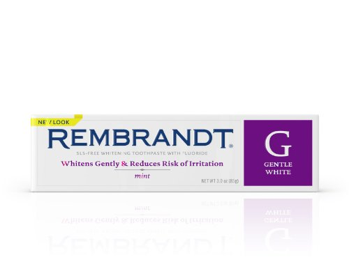 Rembrandt Gentle White Toothpaste, Mint, 3 Ounce (Packaging...