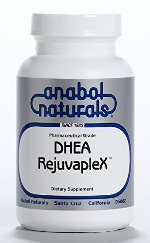 Anabol Naturals DHEA-RejuvapleX 60 Peppermint Sublingual Tablets: 25mg DHEA, 175mg L-Glutamine, 50mcg Sublingual B12 ()