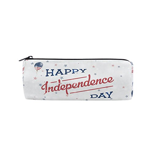 WOZO Hapy Independence Day Balloon Pen Pencil Case Makeup Cosmetic Pouch Case Travel -
