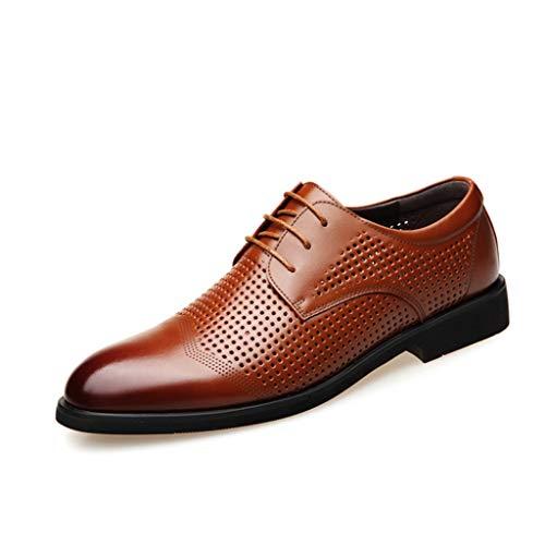 Para Cómodos Brown Cordones Cuero De Antideslizantes Laboral Mocasines Hombres Sin Casuales Trabajo Zapatos 8dxAWqg7w