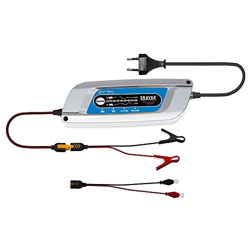 ERAYAK 12V 5A Batterieladegeräte TÜV Zertifiziert, 8-stufig für 10-120AH Batterien, Alle Arten von Rasenmäher, Motorräder, Automotive, Marine, Garten, AGM, Auto & motorrad batterie ladegeraet