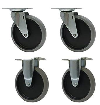 """5 """"Caster ruedas para carros de Rubbermaid utilidad 4401 4505 4500 ..."""