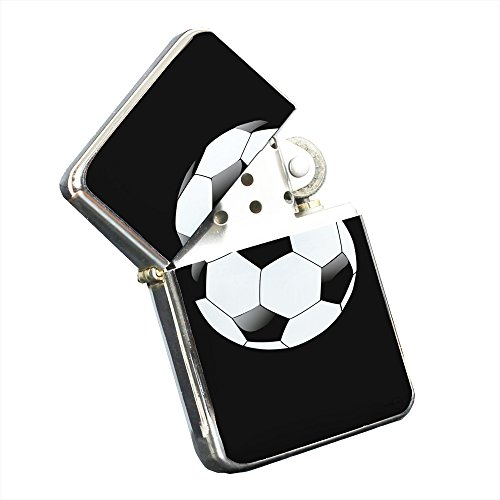 Soccer Ball - Silver Chrome Pocket Lighter by Elements of Space by Elements of Space
