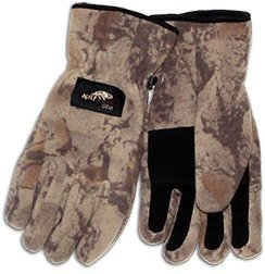 Natural Gear Breathable Fleece Winter Gloves For Men  Fleece Camo Gloves With Palm Grips And Fleece Cuffs  400G Winter Ceptor Micro Fleece Mens Gloves For Winter Hunts  Windproof  X Large Xx Large