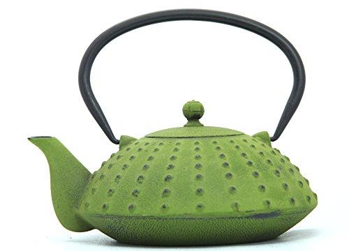 Guro Green Cast Iron Teapot 38 Ounces 1.2L Kettle Shinga (Oz Coffee Pot 38)