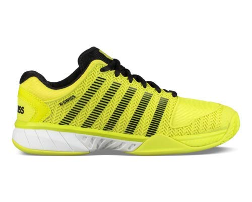 K-Swiss Men's Hypercourt Express Tennis Shoe (Neon Yellow/Black/White, 9 M US) (Tennis Yellow Shoes Mens)