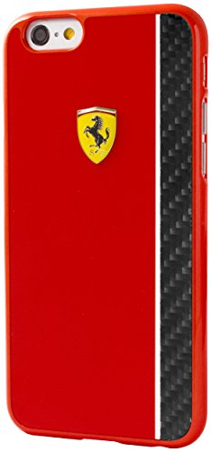 Ferrari Scuderia Hard Case Glossy & Carbon Plate for iPhone 6 Plus/6S Plus - - Ferrari Case