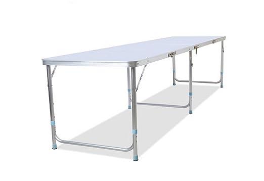 W/C/X Portátil Plegable De Aluminio Larga Mesa Plegable De 2,4 ...