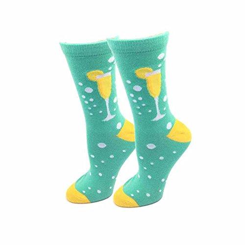 Mimosa One Size Fits Most Mint Ladies Crew Socks