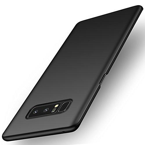 ORNARTO Galaxy Note8 Case,Note 8 [Basic Series] Thin Fit Shell Premium Hard Plastic Matte Finish Non Slip Full Protective Anti-Scratch Cover Cases for Samsung Note8(2017) 6.3Midnight Black