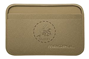 Magpul DAKA Everyday Wallet MAG763 FDE Laser Engraved Seabees Emblem from NDZ Performance