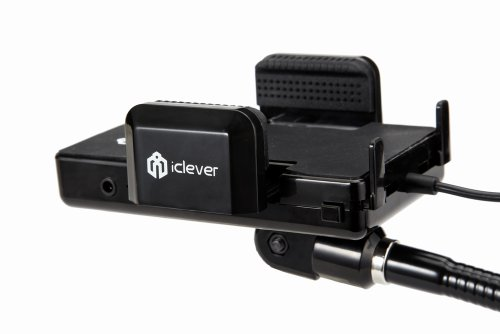 iClever All Channel Wireless FM Transmitter+Car Holder+Car Charger Cigarette Lighter for Apple iPod / iTouch 3G, & 3G S / Nano / Classic / Touch / iPhone(4 4s)/ iPhone 5 5s(no lightning cable included) and Samsung and HTC smartphones(charging through USB port, No micro cable included)