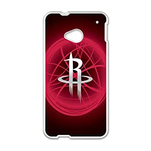 Houston Rockets NBA White Phone Case for HTC One M7