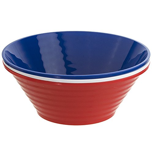 Set of 3 | Liberty 12-Inch Unbreakable Plastic Serving Bowls in 3 Assorted Colors