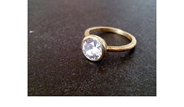 Gemstone Ring Sterling Silver Gold Ring Oxidised Silver Ring Clear Quartz Ring Thin Silver Gold Ring- Desire 2 R0905X Engagement Ring