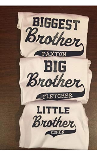 (personalized matching brother shirt set Biggest big and little brother with)