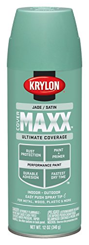 Krylon K09169000 COVERMAXX Spray Paint, Satin Jade, 12 Ounce