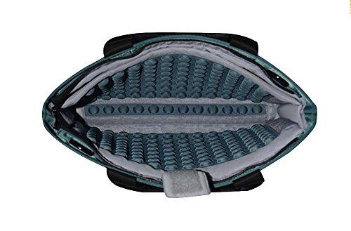 YiJee Tela de Nylon Funda Blanda Bolso Sleeve para Portátil Macbook Pro de 13/14/15 Pulgadas 15 Inch Oscuro Verde