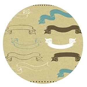 alfombrilla de ratón Cinta de papel kraft - ronda - 20cm