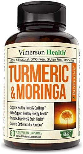 Turmeric Curcumin with Moringa Oleifera and Bioperine Supplement. Occasional Joint Pain Relief. Supports Inflammatory Response. Antioxidant Properties with Standardized Curcuminoids and Black Pepper