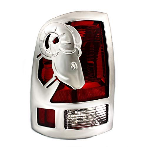 Big Horns Tail Light Covers For Dodge ~ Ram Pickup ~ 2009-2016  - Chrome ABS ~ 1500 Only, 2 PC Set