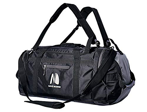 4293fa60b3b Sailing Duffel Bag Fishing Waterproof Backpack Boating Team Bag 50-litres  (Black/Grey