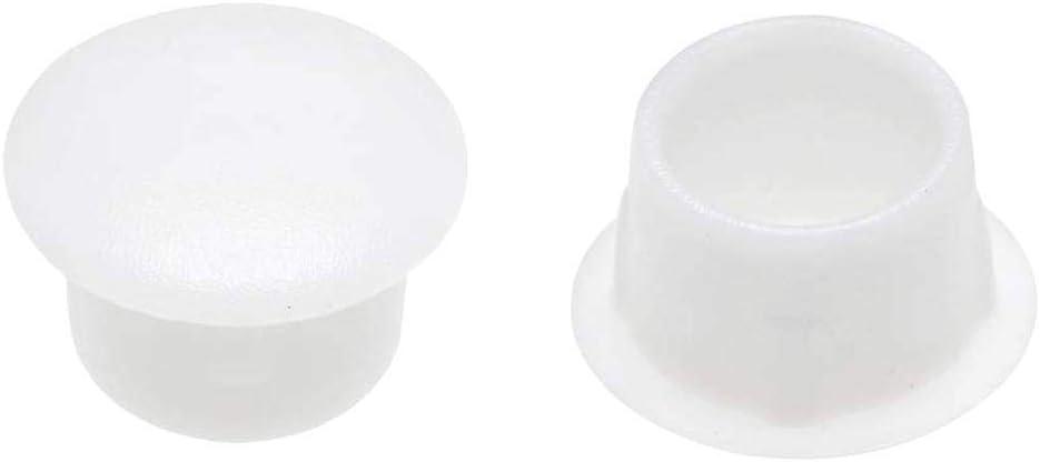 Sepikey Vis Bouchon Bouton Bouchon de Encastrement Type Plastique Blanc Trou de Verrouillage Cabinet Armoire Tablette 10 mm Dia 30pcs