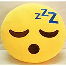 Sunbowstar 32cm Emoji Smiley Emoticon Yellow Round Cushion Stuffed Plush Soft Pillow Used Comfortably Various Occasions¨CSleeping with 3 Zs-Style 2