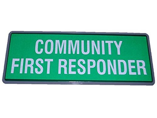 Green Community First Responder Reflective Badge Non Hook + Loop tbc