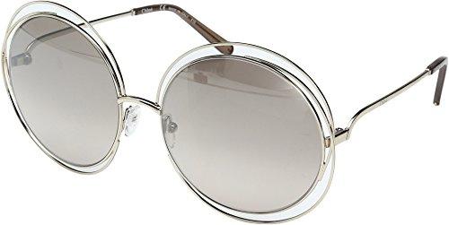 Chloe Women's Carlina Round - CE114SL Gold/Transparent Brown/Gradient Flash - Sunglasses Round Frame Chloe