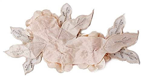 para broches Accesorio de flores rojas de tela con encajes y lentejuelas brillantes para cintas de pelo morado elemento decorativo para diademas de novia