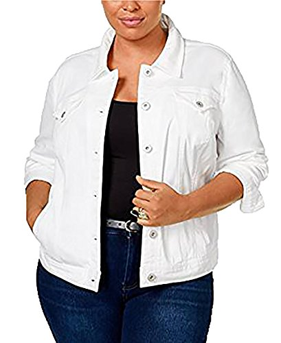 Style & co. Size Denim Jacket (22W, Bright White) by Style & Co.